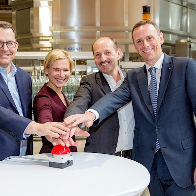 Setting the future course: Egger Getränke invests 25 million euros in a new filling plant for glass bottles